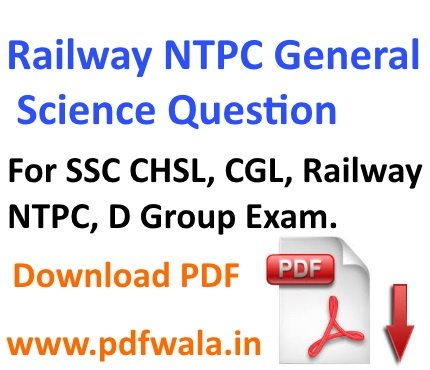 Railway ntpc General Science question