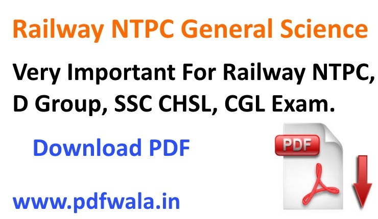 Railway ntpc general science question pdf
